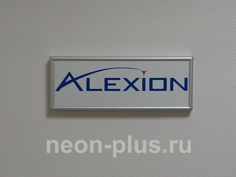 Табличка в профиле NELSON